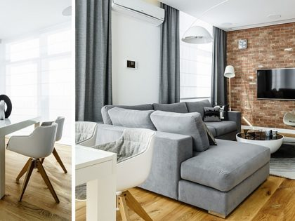 Ceglana ściana i drewniana podłoga – ponadczasowe połączenie