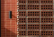 Perforowana ceglana ścianka – łącznik
