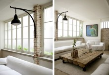 Niesamowity loft z ceglanym dodatkiem