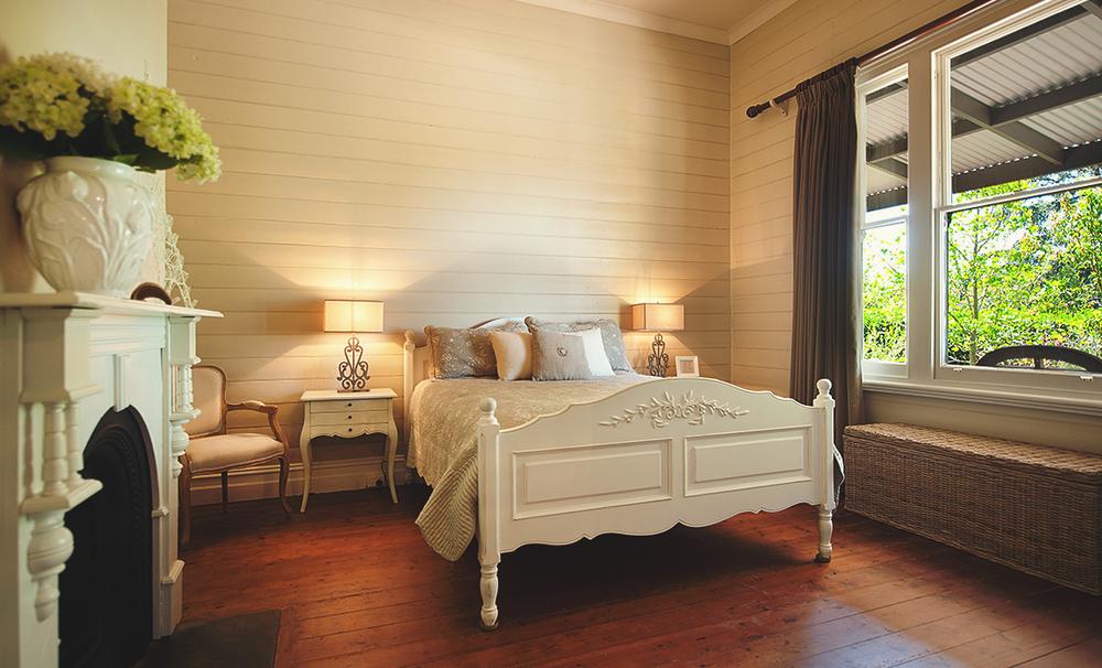 sypialnia w rustykalnym stylu