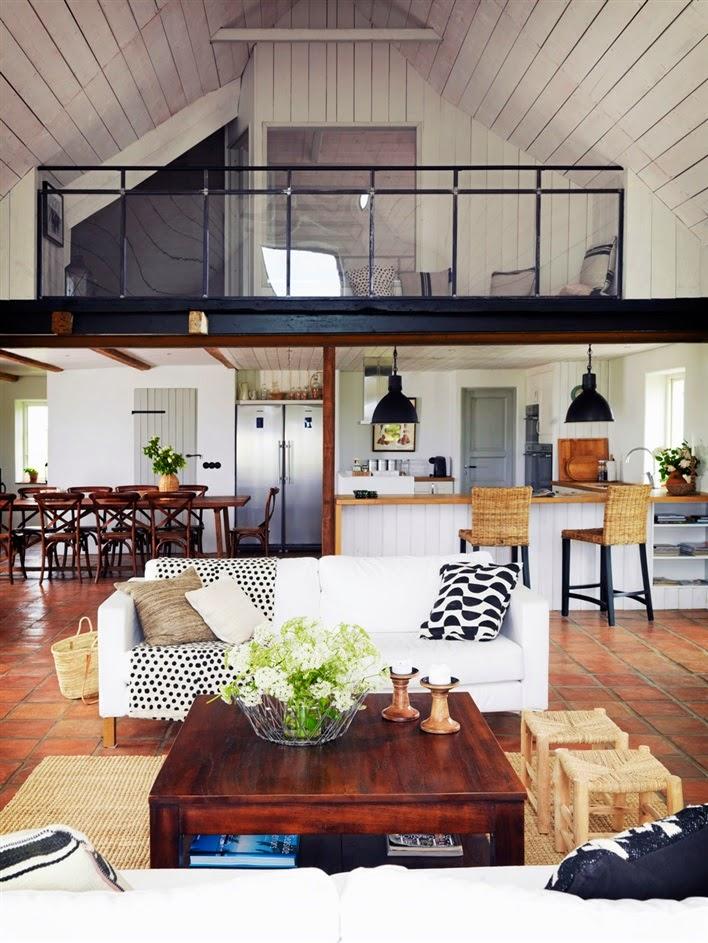 Mieszkanie w stodole – rustykalny styl ceglanych płytek podłogowych
