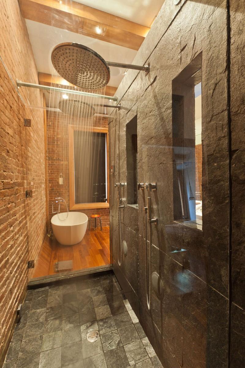 Ceglana łazienka idealna na relax
