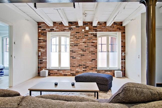 Dekoracyjna ściana z cegły