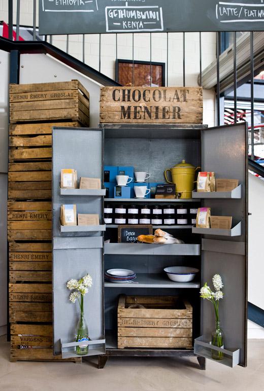 Market Lane Coffee ceglana ściana w kawiarniani 1